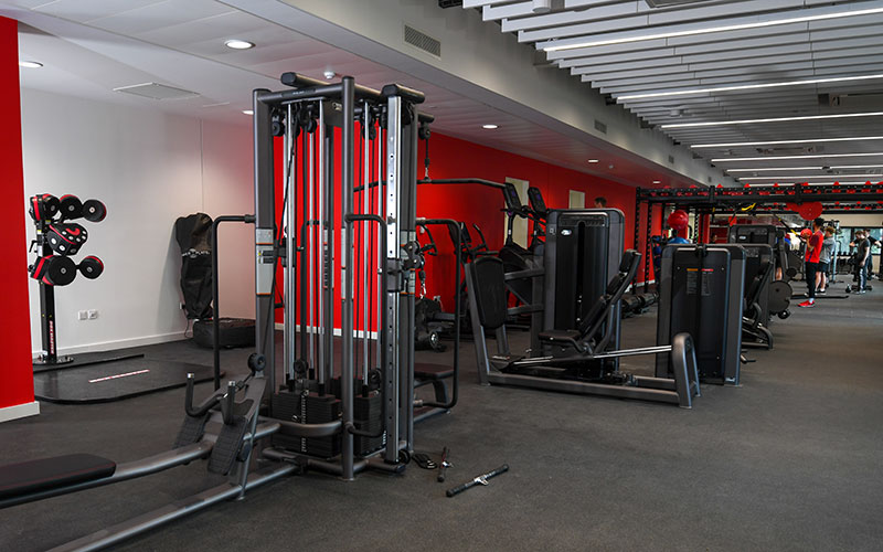 An image displaying our excercise and fitness equipment in our public gym